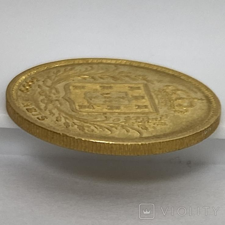 5000 реалов. 1863. Португалия (золото 917, вес 8,82 г), фото №11