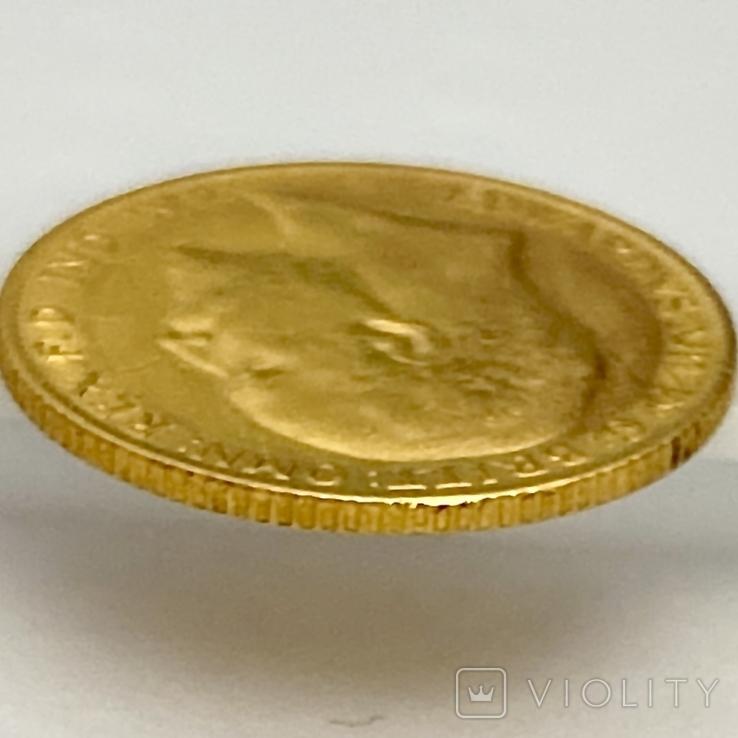 1/2 фунта (1/2 соверена). 1909. Эдуард VII. Великобритания (золото 917, вес 3,97 г), фото №11