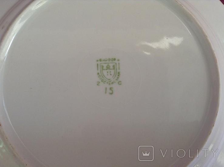 Блюдо-тарелка плоская Птица счастья. Фарфор, Коростень., фото №6