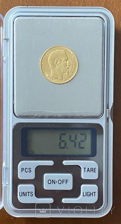 20 франков. 1859. Наполеон III. Франция (проба 900, вес 6,42 г), фото №10