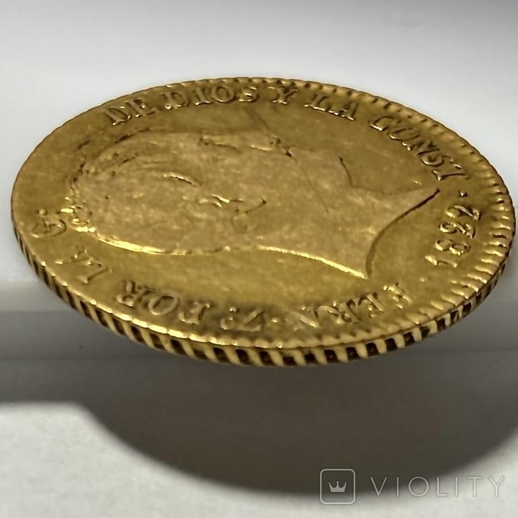 80 реалов. 1822. Фердинанд VII. Испания (золото 875, вес 6,64 г), фото №9