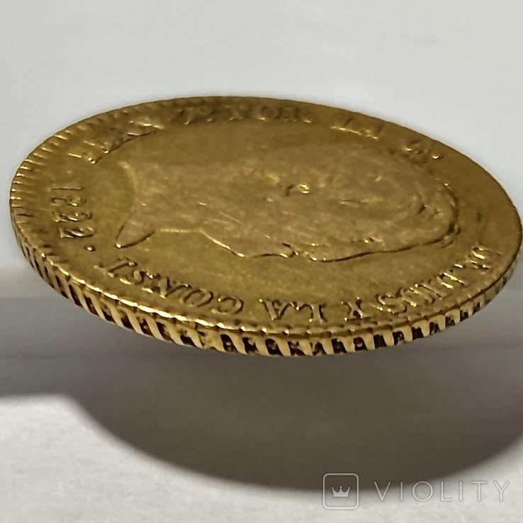 80 реалов. 1822. Фердинанд VII. Испания (золото 875, вес 6,64 г), фото №10
