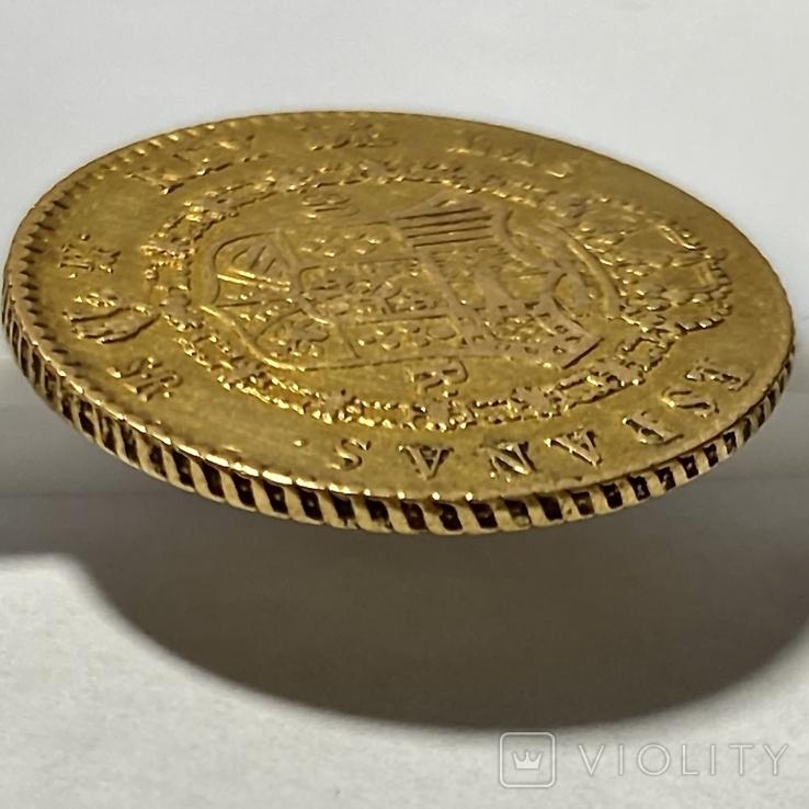 80 реалов. 1822. Фердинанд VII. Испания (золото 875, вес 6,64 г), фото №11