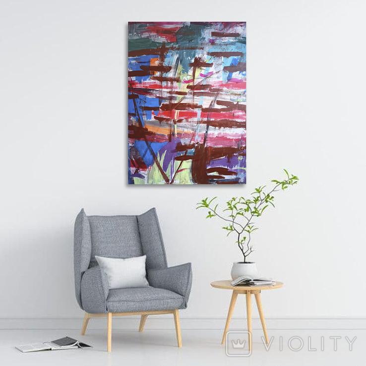 "Интерьерная картина ""Releasing pleasure"" акрил, холст 80х60 см, фото №3"