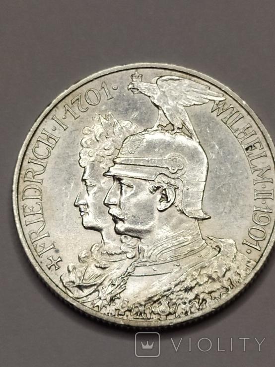 2 марки 1901 года 200 лет Королевства Пруссия, фото №3