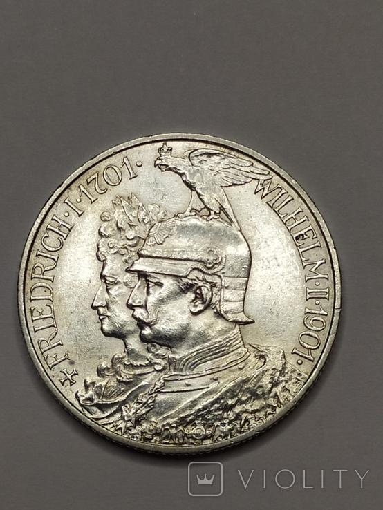 2 марки 1901 года 200 лет Королевства Пруссия, фото №4