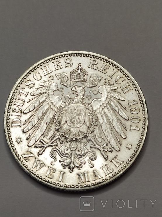 2 марки 1901 года 200 лет Королевства Пруссия, фото №5