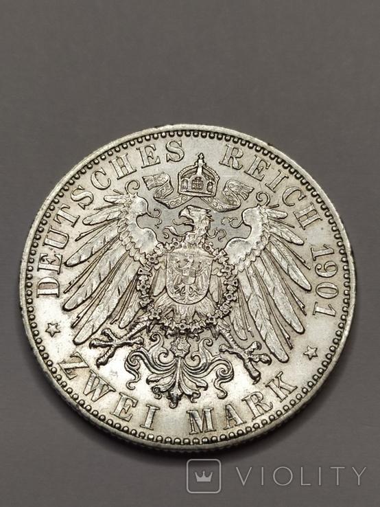2 марки 1901 года 200 лет Королевства Пруссия, фото №6
