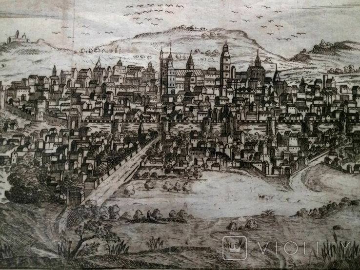 1758 Сенс Шампань Франция (карта план 37х21 Верже) СерияАнтик, фото №10