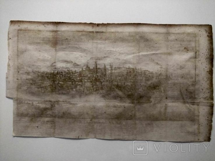 1758 Сенс Шампань Франция (карта план 37х21 Верже) СерияАнтик, фото №12
