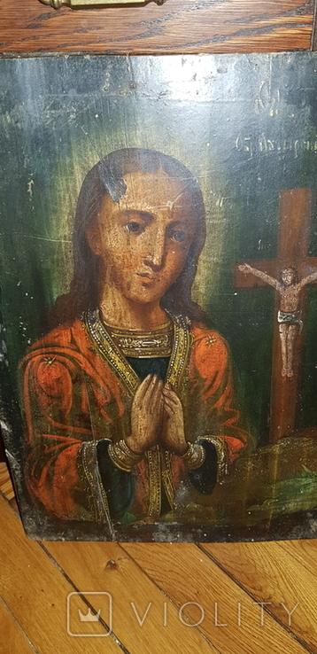 Пресвятая Богородица. Ахтырская. 35 х 25 см, фото №5