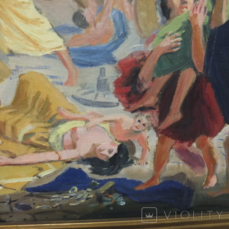 "Картина.""Гибель Помпеи"" Копия .Масло., фото №9"