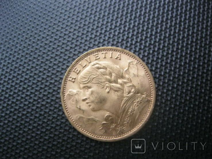 20 франков 1935 год Швейцария, фото №3