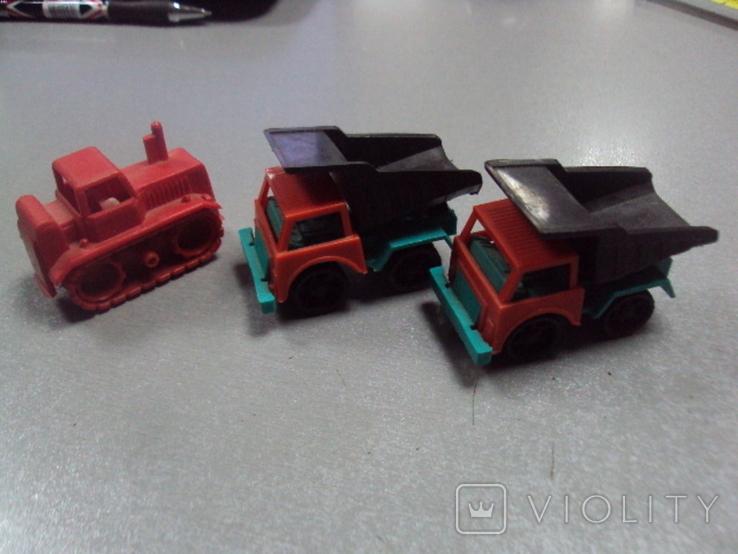 Машинка самосвал трактор ссср лот 3 шт, фото №2