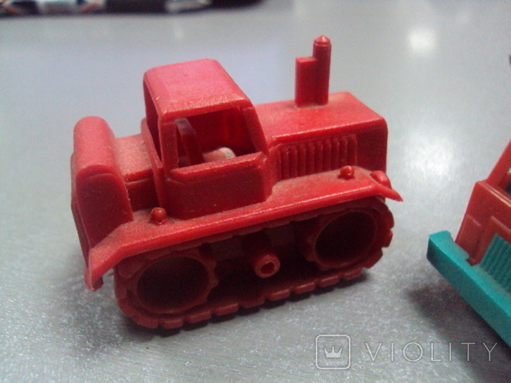 Машинка самосвал трактор ссср лот 3 шт, фото №4