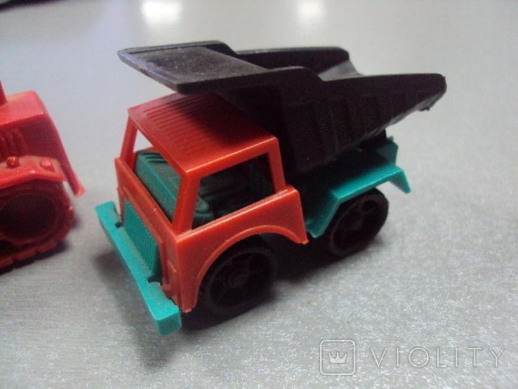 Машинка самосвал трактор ссср лот 3 шт, фото №5