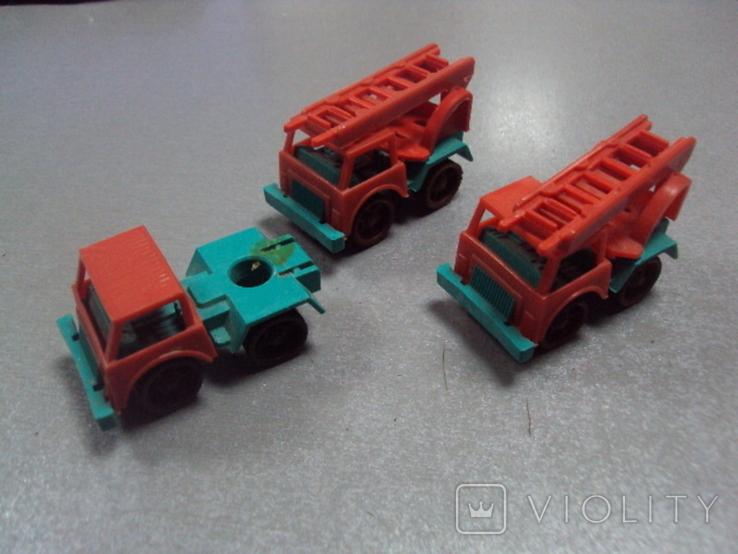 Машинка пожарная машина ссср лот 3 шт, фото №2