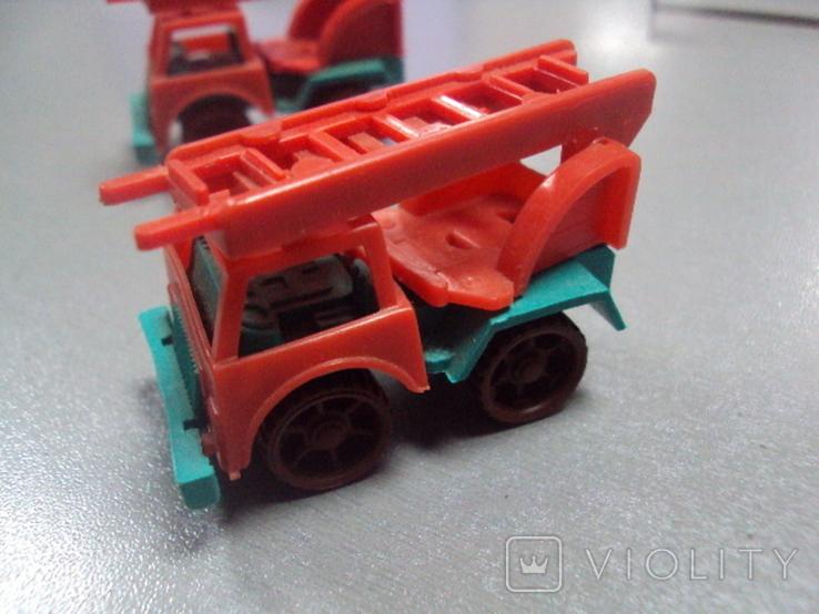 Машинка пожарная машина ссср лот 3 шт, фото №6