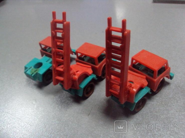 Машинка пожарная машина ссср лот 3 шт, фото №9
