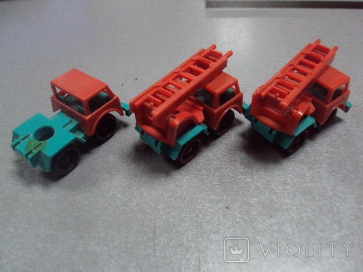 Машинка пожарная машина ссср лот 3 шт, фото №10