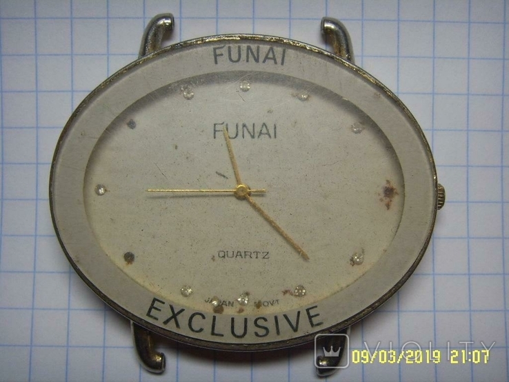 Часы-имитация из 90х FUNAI. Не рабочие., фото №2