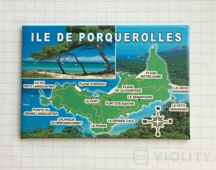 Магнит на холодильник Остров Поркероль, Франция, фото №2