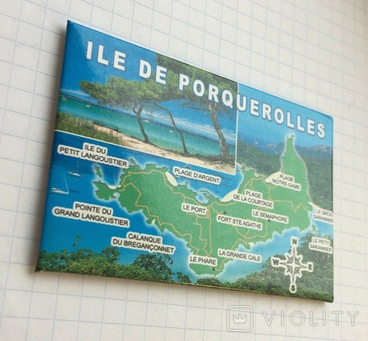Магнит на холодильник Остров Поркероль, Франция, фото №3
