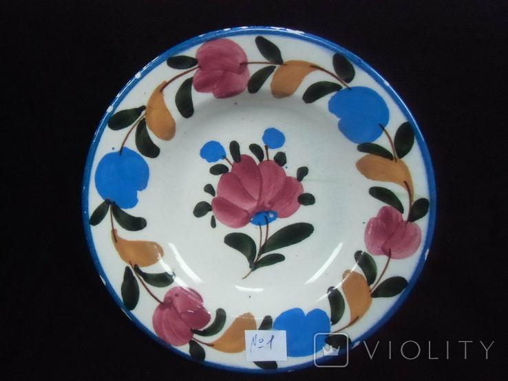 Старинная настенная тарелка №1Миниатюрная 14см, фото №2
