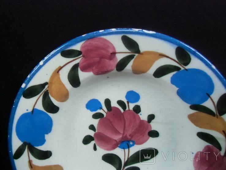 Старинная настенная тарелка №1Миниатюрная 14см, фото №4