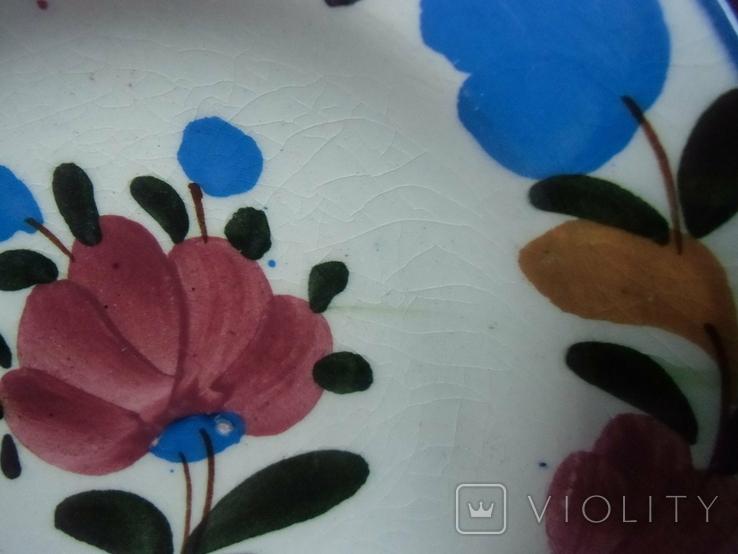 Старинная настенная тарелка №1Миниатюрная 14см, фото №5