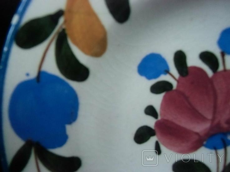 Старинная настенная тарелка №1Миниатюрная 14см, фото №6