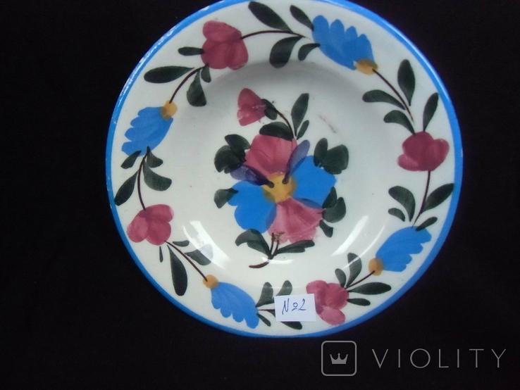Старинная настенная тарелка №2 Миниатюрная 14см., фото №2