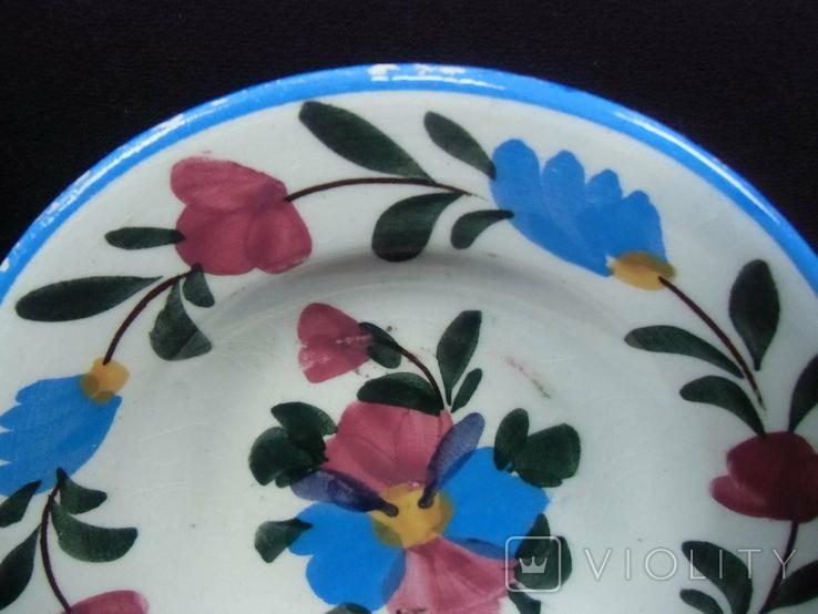 Старинная настенная тарелка №2 Миниатюрная 14см., фото №4