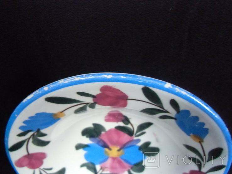 Старинная настенная тарелка №2 Миниатюрная 14см., фото №7