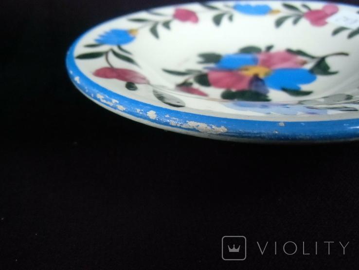 Старинная настенная тарелка №2 Миниатюрная 14см., фото №8