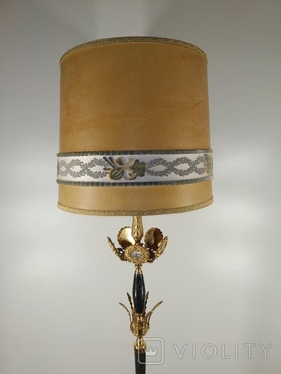 Підлогова лампа, торшер бронзовий з мармуром арт. 0724, фото №5