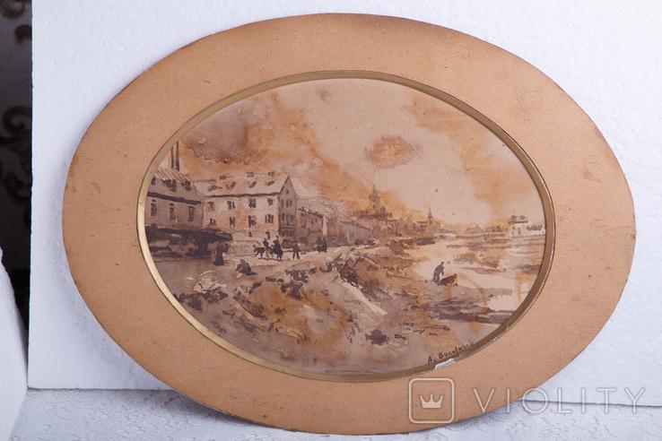 Картина на бумаге или картоне, фото №2