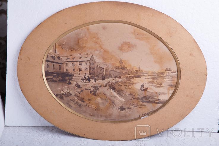 Картина на бумаге или картоне, фото №3