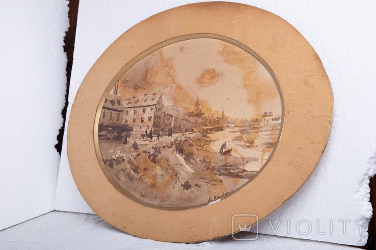 Картина на бумаге или картоне, фото №4
