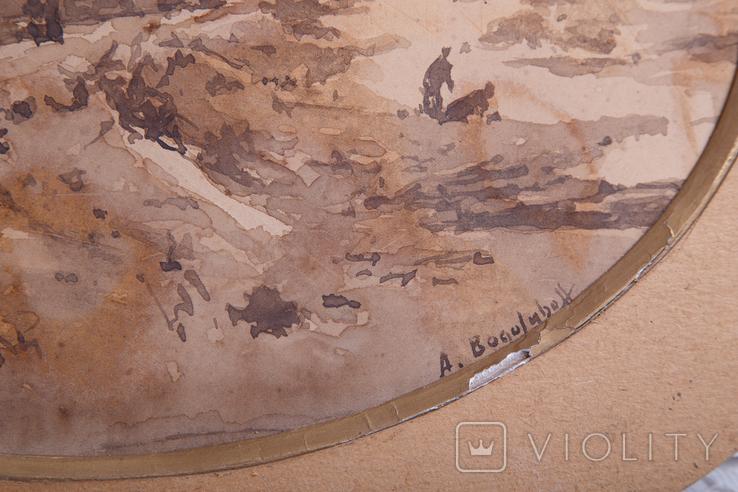Картина на бумаге или картоне, фото №6