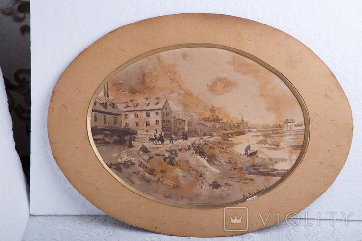 Картина на бумаге или картоне, фото №7