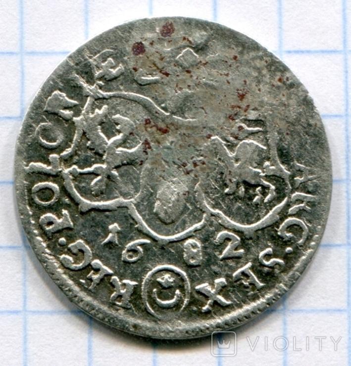 Ян ІІІ Собєський 6 грош 1682р, фото №3