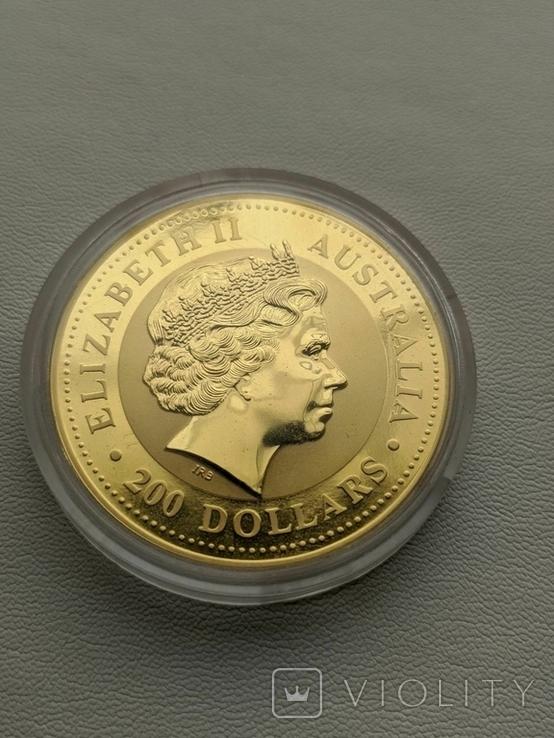 Австралия 200$ год Лошади 2002 год 2 унции золота 9999`, фото №5