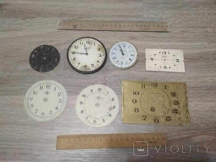 Циферблаты металлические к разным настольным часам, 7 шт., фото №2