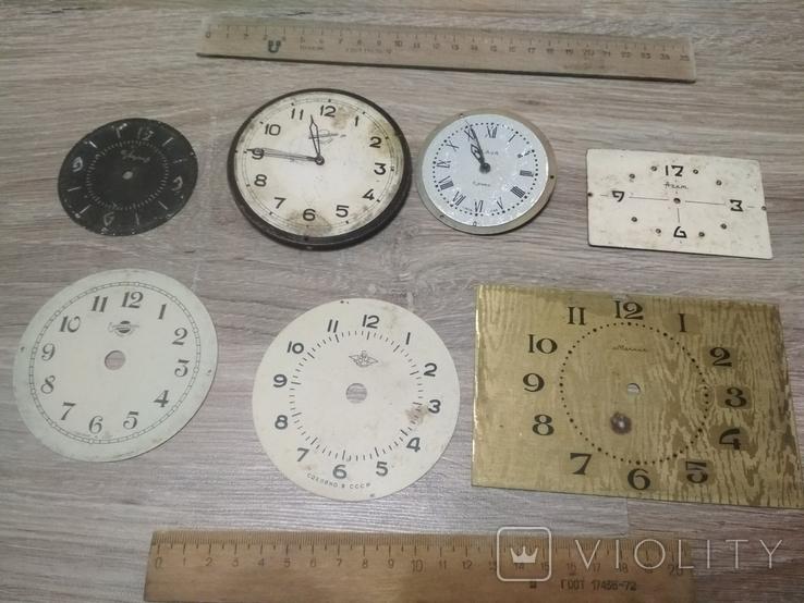 Циферблаты металлические к разным настольным часам, 7 шт., фото №3