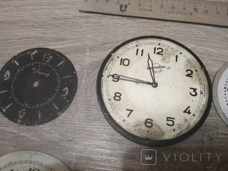 Циферблаты металлические к разным настольным часам, 7 шт., фото №4
