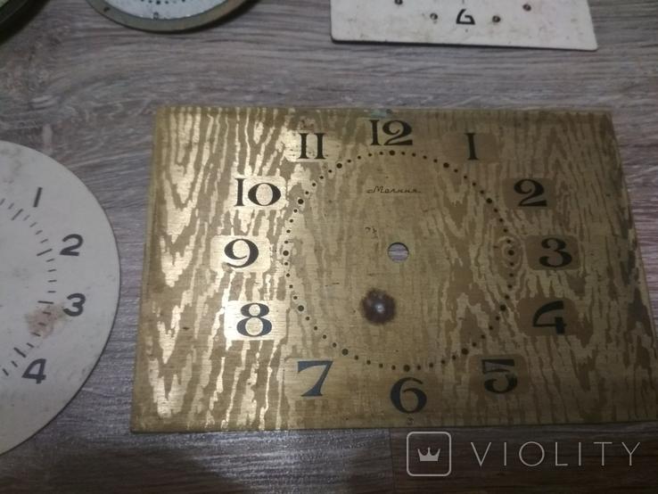 Циферблаты металлические к разным настольным часам, 7 шт., фото №7