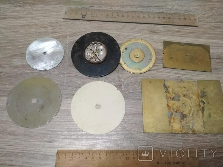 Циферблаты металлические к разным настольным часам, 7 шт., фото №8