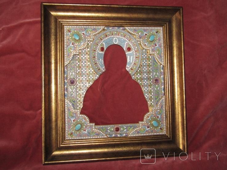 Икона Господь Вседержитель. Оклад горячая эмаль, фото №5
