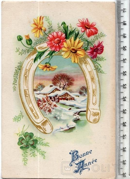 Старинная открытка. 1953 год. Разное.(2), фото №2